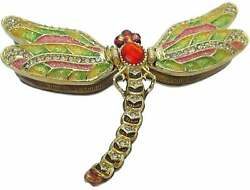Magnetically Hinged Dragonfly Trinket Box
