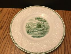 Wedgwood Torbay Patrician Green And White Dinner Plate 10 5/8