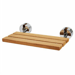 20 Quick Wooden Bench Seat Folding Wall Mounted Bathroom Shower Collapsible