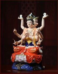 16and039and039china White Porcelain Glaze Colours China Myth Taoism Dominate Goddess Queen