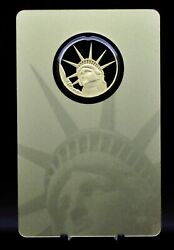 2021 Solomon Islands Statue Of Liberty 1/4oz 9999 Gold Coin In Assay [051dud]