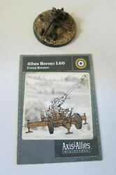 Axis And Allies Miniatures Contested Skies 14 40mm Bofors L60 Uc With Card