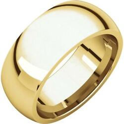 24k Yellow Gold 8mm Domed Comfort Fit Wedding Band