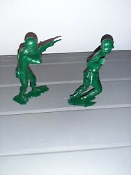 1971 Marx 6 Inch Usmc Soldiers Wwii Style Action Figures Lot Of 2