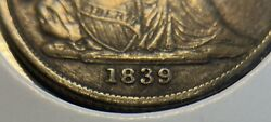 1839o 10 Cent Dime Reverse Of 38 Top 100 F 106a Huge O Extra Fine Uncertified