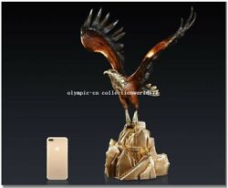 22and039and039 Classical Art Bronze Statue Home Furniture Decorate Great Wall Eagle Hawk