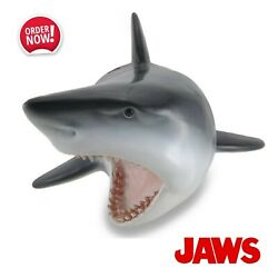 Replica Great White Shark Head Statue Bust Jaws Figurine Gift Home Office Decor