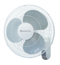 16 In Wall Mount Fan With Remote Quiet 3-speed Timer And Adjustable Tilt White
