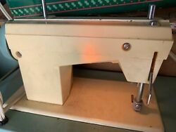 Childs 'daughter' Sewing Machine And Case With Light 1960s Japan Made -works Great