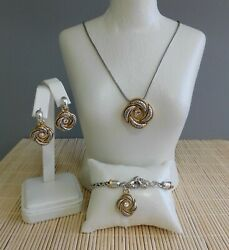 Brighton Love Knot Necklace Bracelet And Earrings - 3 Piece Set