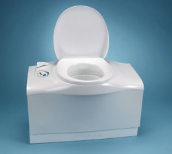 Thetford 32812 C402c Cassette Toilet With Electric Flush - Left Hand Waste Tank