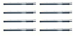 8 Ea Bnm Pro Staff Trolling Rod Crappie Pole 12' Pst122n One Set Of 8 Rods Bandm