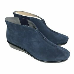 Aerosoles Womens Size 8.5 Allowance Ankle Boots Dark Blue Suede New