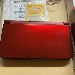 New Nintendo 3ds Ll Metallic Red Handheld System Used From Japan
