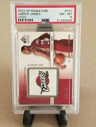 Lebron James 2003/04 Sp Signature 101 Cavaliers Logo Rc Rookie Card Sp 143/499