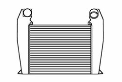 Fits A 1995-1998 International 5000 Sfa Series Charge Air Cooler W/ Bar And Plate