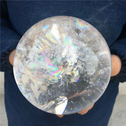 6.42lb Topnatural Clear White Crystal Stone Sphere Ball Healing Decoration Yk54