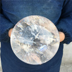 7.72lb Topnatural Clear White Crystal Stone Sphere Ball Healing Decoration Yk55