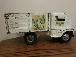 Vintage 1953 Tonka Green Giant Stake Bed Farm Truck All Original See Pics