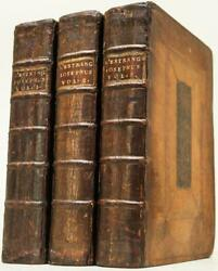 1716 Works Of Flavius Josephus Leather Illustrated Copper Foldouts 305 Years Old