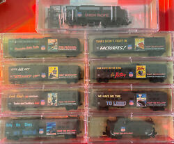 N Scale Micro Trains Union Pacific Wwii Poster Series 1-7 W/caboose And Ft A Unit