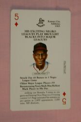 SATCHEL PAIGE 1991 BASEBALL LEGENDS PLAYING CARDS FIVE OF DIAMONDS #CLEVELAND $2.99