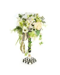 Mackenzie Childs 26 Sweetbriar Grand Centerpiece Courtly Check New