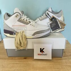 Jordan 3 Retro A Ma Maniandeacutere Dh3434-110 Size 7.5 Womenand039s / 6 Menand039s