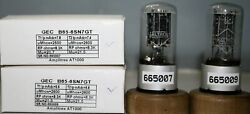 1mp B65 6sn7gt Gec Metal Base Cup Getter Amplitrex At1000 Tested665007and9