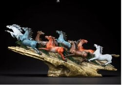 28and039and039 Classical Furniture Decorate Statue Bronze Crafts Prosperity Eight Horse