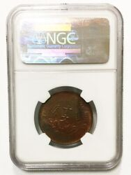 912-008 1920 China Antique Copper Chinese Coin 10c Ms63 Rb Pcgs