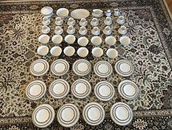 Noritake Halifax Fine China 14 Person Place Setting, 91 Pieces Great Condition