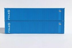 Jtc 405555 N Hanjin 40' Std. Height 'square Corrugated' Containers 2 Pk