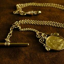 Indian Coins Gold Coin 1925 Eagle Pocket Watch Chain