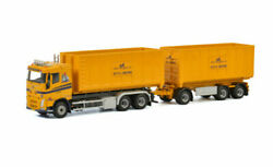 1/50 For Volvo Fh4 Sleeper Cab 6x2 Tag Axle Hooklift Trailer 40m3 Container
