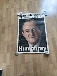 Hubert Humphrey Poster Some Talk Change Others Cause It Face Shot