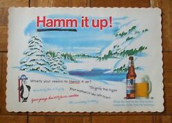 Lot Of 10 Vintage 1960's Hamm's Beer Bear Paper Placemats Nos