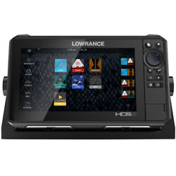 Lowrance Hds-9 Live W/active Imaging 3-in-1 Transom Mount And C-map Pro Chart 0...