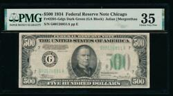 Ac 1934 500 Five Hundred Dollar Bill Chicago Pmg 35 Comment
