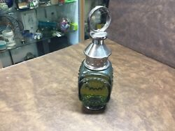 Vintage Whale Oil Lantern After Shave Wild Country Avon Full Glass Bottle