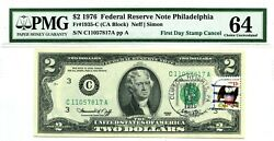 2 Dollars 1976 First Day Stamp Cancel Philadelphia Eagle And Shield 2000