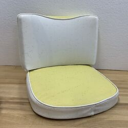Vintage 1960s 70s Boat Seat Cushion Yellow White Sparkle Nos New Old Stock Rare