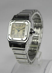 Santos Galbee Automatic Ladieand039s Watch 24mm Stainless Steel 2423