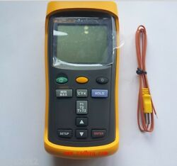 New Fluke 52 Ii Dual Input Digital Thermometer With Two 80pk-1 Thermocouples
