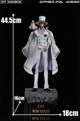 Rob Lucci Statue Resin Ot Works Cp0 One Piece Model Collectibles Presale 45cm