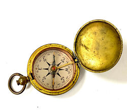 Ww2 Brass Usce Us Corp Of Engineers Pocket / Lanyard Compass By Taylor Usa