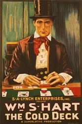 The Cold Deck Movie Poster Fine Art Lithograph Hand Pulled William S Hart