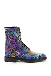 New Celine Ranger Printed Leather Boots 340363540c Multicolor Green Authentic Nw