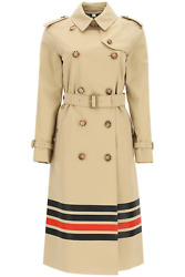 New Waterloo Trench Coat With Stripes 8036762 Honey Authentic Nwt