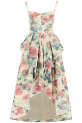 New Pinko Two-piece Dress 1g15rm 8391 Multi Panna Verde Authentic Nwt